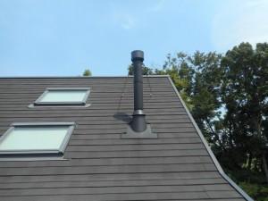屋根上の煙突
